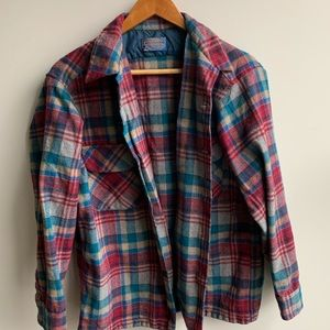 Pendleton Plaid Wool Shirt Jacket